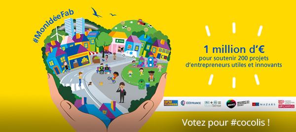 Fabrique Aviva : votez pour Cocolis, le covoiturage de colis