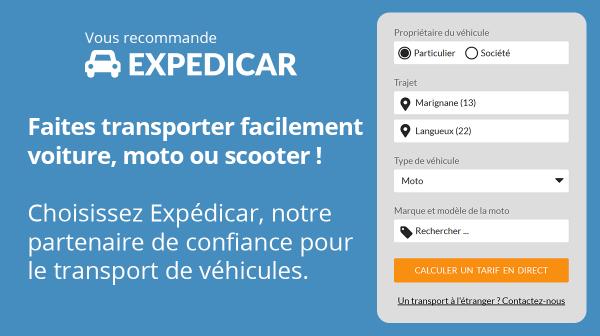 Transport voiture moto EXPEDICAR, partenaire de COCOLIS
