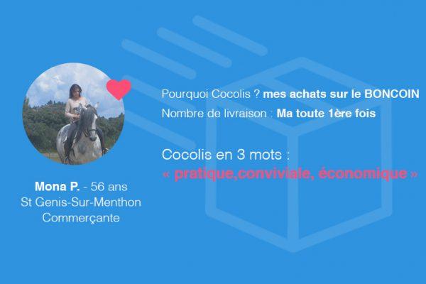 Témoignage Cocolis de Mona acheteuse Boncoin