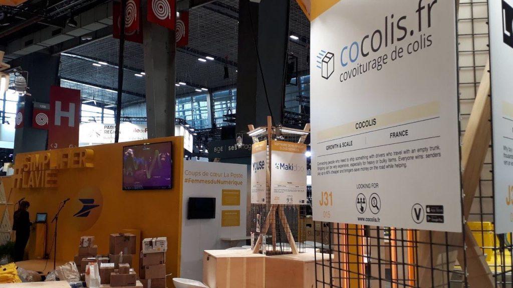 Cocolis sur le stand La Poste Vivatech 2019
